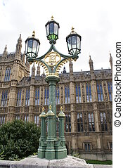 lamp, The Palace of Westminster, UK