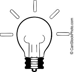 Lamp vector illustration on white background