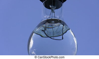 Lamp, water shivering - Electrical lamp bulb filled with ...