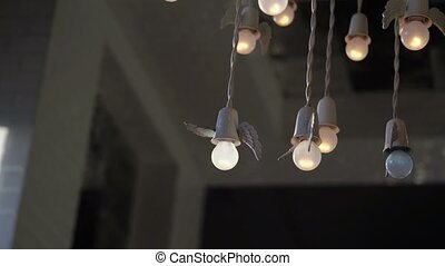 Lamp with angel wings - Lot of lamps with angel wings