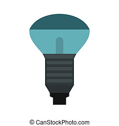 Lamp with blue light icon, flat style