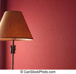 Lamp with red wall
