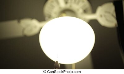 Lamp with tie with blur in motion