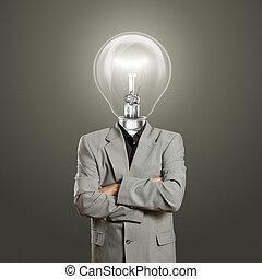 lampa, hlavička, obchodník