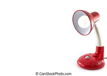 lampa, izolować, biurko