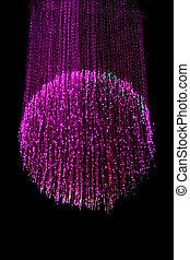 lampa, optisk fiber