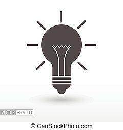 lampa, -, płaski, ikona