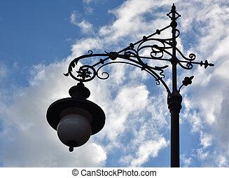 lampa, ulica, retro