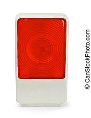 lampada, bianco, automobile, rosso, isolato