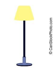 lampada, cartone animato, icona