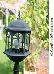lampada, giardino