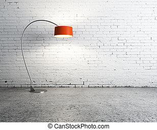 lampada, in, stanza