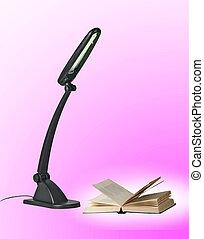 lampada, libro