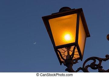 lampada, notte