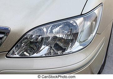 lampada, polacco, fronte, automobile