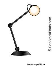 lampada, scrivania