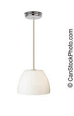 lampada, sfondo bianco, isolato
