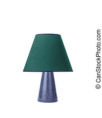 lampada tavola, bianco, isolato, fondo