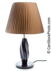 lampada tavola, bianco, isolato