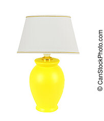 lampada tavola, isolato, bianco