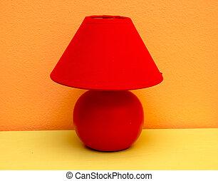 lampada tavola, rosso giallo