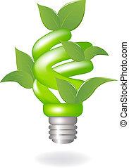 lampada, verde