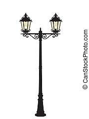 lampada, vettore, strada