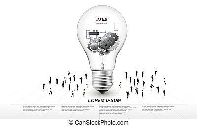 lampadina, intorno, g, persone