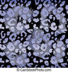lampart odcisk, pattern., wielostrzałowy, seamless, wektor, zwierzę, tło
