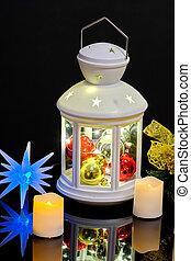 lampe électrique, bougies, branche, année, impeccable,...