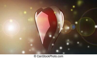 lampe électrique, coeur, tourner