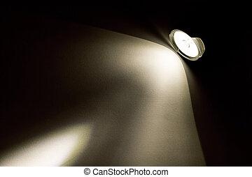 lampe électrique, pinceau lumineux