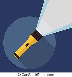 lampe électrique, plat, icône