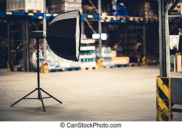 lampe électrique, studio photographie