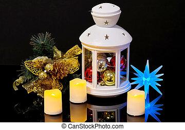 lampe électrique, vie, bougies, branche, impeccable, encore,...