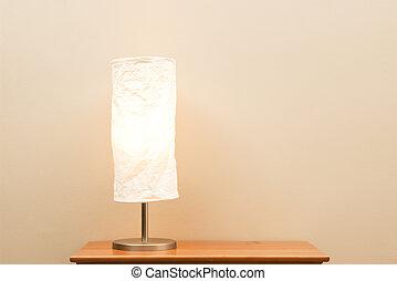 lampe, auf, klein, tisch