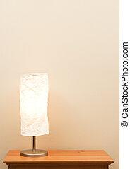 lampe, auf, tisch
