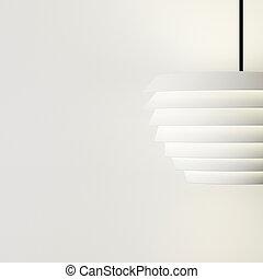 lampe, conception, blanc, mur, décorer, de, intérieur