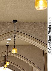 lampe, couloir, pendre