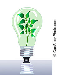 lampe, feuille, grows, branche