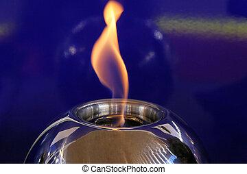 lampe, flamme