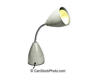 lampe, freigestellt, buero
