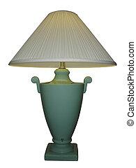 lampe, grün, blumenvase