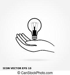 lampe, hånd