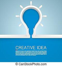 lampe, idée, créatif