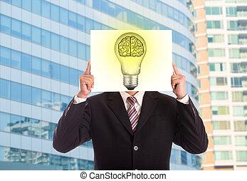 lampe, idee, geschaeftswelt, kreativ