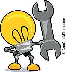 lampe, karikatur, abbildung