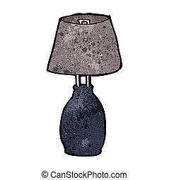 lampe, karikatur
