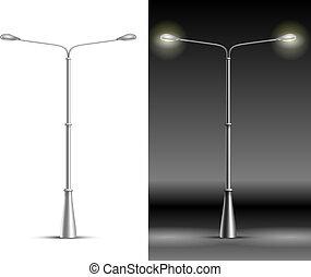 lampe, lanternes, rue