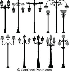 lampe, laternenpfahl, pfahl, straßenlaterne, stange